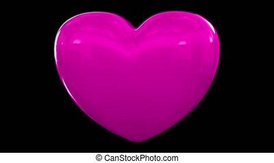 serce, miłość, pobicie, puls, valentine, płeć, rocznica, para, romans, datując, pętla