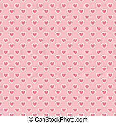 serce modelują, seamless, (tiling), formułować, wektor