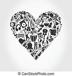 serce, muzyczny