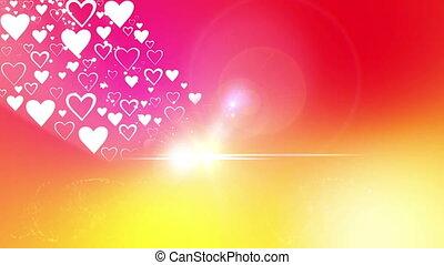 serce, od, valentine`s dzień