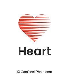 serce, płaski, kwestia, wektor, projektować, szablon, logo