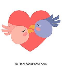serce, para, ptaszki, sprytny