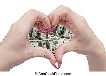 serce, pieniądze, siła robocza