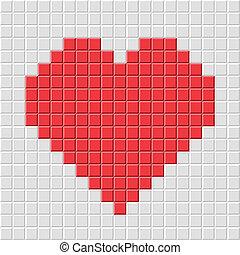 serce, pixel