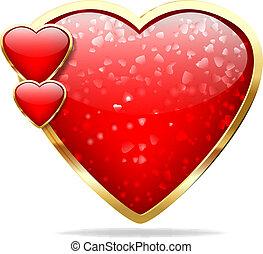 serce, połyskujący