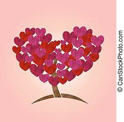 serce, pojęcie, liście, list miłosny, dzień drzewa