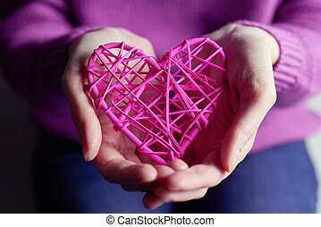 serce, pokaz, samicze ręki