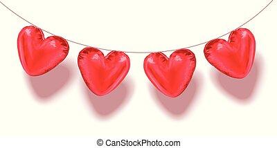 serce postało, balony