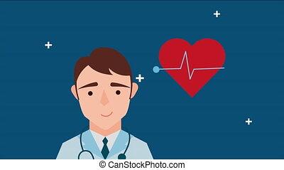 serce, profesjonalny, cardio, doktor