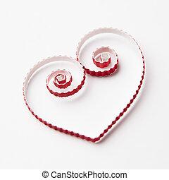 serce,  quilling, papier, Dzień, valentine