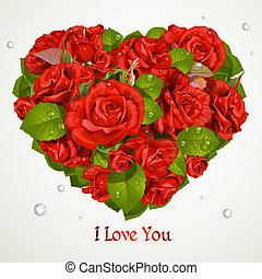 serce, róże