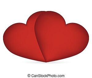 serce, s, dzień, valentine