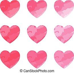 serce, set., valentine, symbol., sprytny
