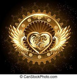 serce, skrzydełka, mechaniczny