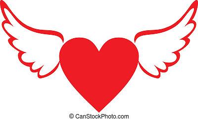 serce, skrzydełka