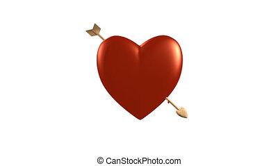 serce, strzała