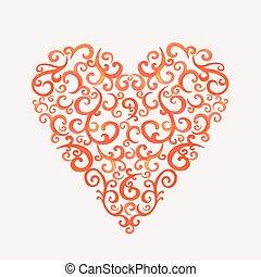 serce, sylwetka, koronka