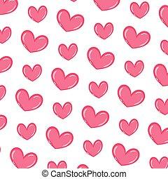 serce, symbol, miłość, tło, ładny