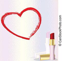 serce, szminka