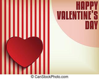 serce, tło, dzień, valentine, retro