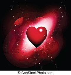 serce, tło