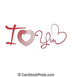 serce, text., odizolowany, valentine, formułować, dzień