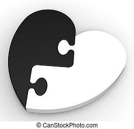 serce, two-colored, zagadka, obietnica, pokaz, poprzedni