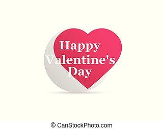 serce, valentine, odizolowany, ilustracja, tło., wektor, logo, biały, ikona, dzień, szczęśliwy