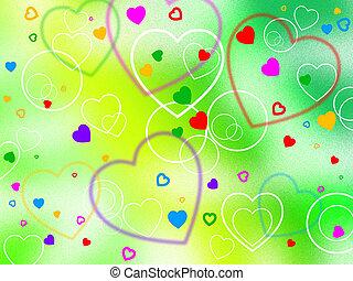 serce, valentine, tło, dzień, przywiązanie, widać