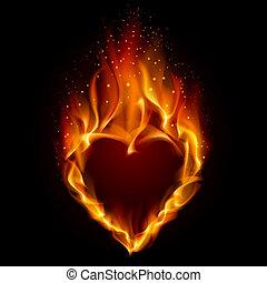 serce, w, ogień