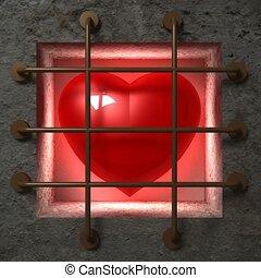 serce, więzienie