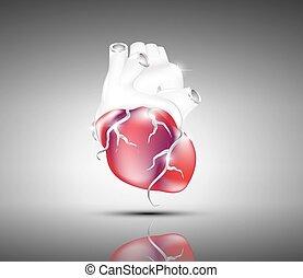 serce, wizerunek, abstrakcyjny