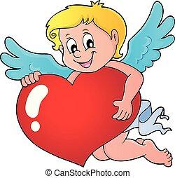 serce, wizerunek, amorek, stylizowany, 1, dzierżawa
