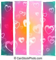 sercowa farba, valentines dzień, przywiązanie, widać