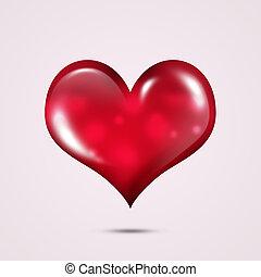 sercowa forma, czerwona karta, valentine