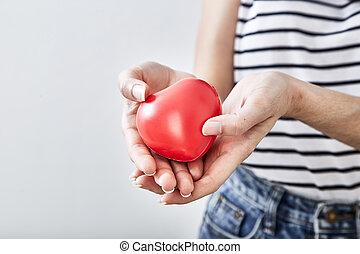 sercowa forma, czerwony, siła robocza