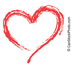 sercowa forma, dla, miłość, symbolika