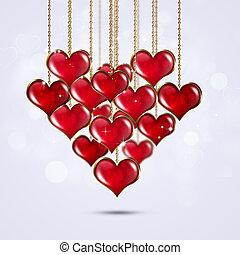sercowa forma, karta, valentine