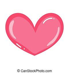 sercowa forma, miłość, symbol, ładny