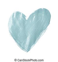 sercowa forma, pociągnięty, z, naftowa farba