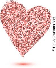 sercowa forma, projektować, dla, miłość, symbolika