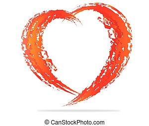 sercowa forma, projektować, dla, miłość, symbols.