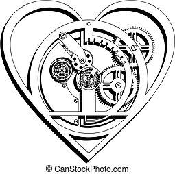 sercowy szkic, mechaniczny