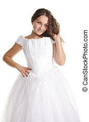 Serene curly bride
