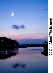 Serene Lake at Twilight