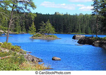 Serene lake - Beautiful serenity of a lake in Minnesota, USA