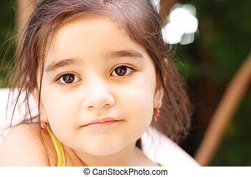 Serene little girl