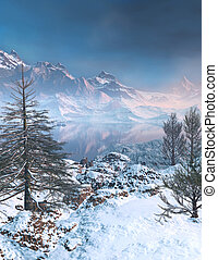 Serene Mountain Scene