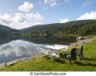 Serene Scenery in the norweigan fjords