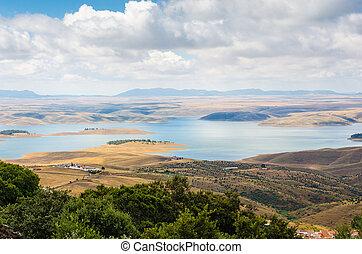 serene valley in Badajoz, Extremadura, Spain.